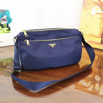 Prada Nylon Shoulder Bag BT0742 Blue