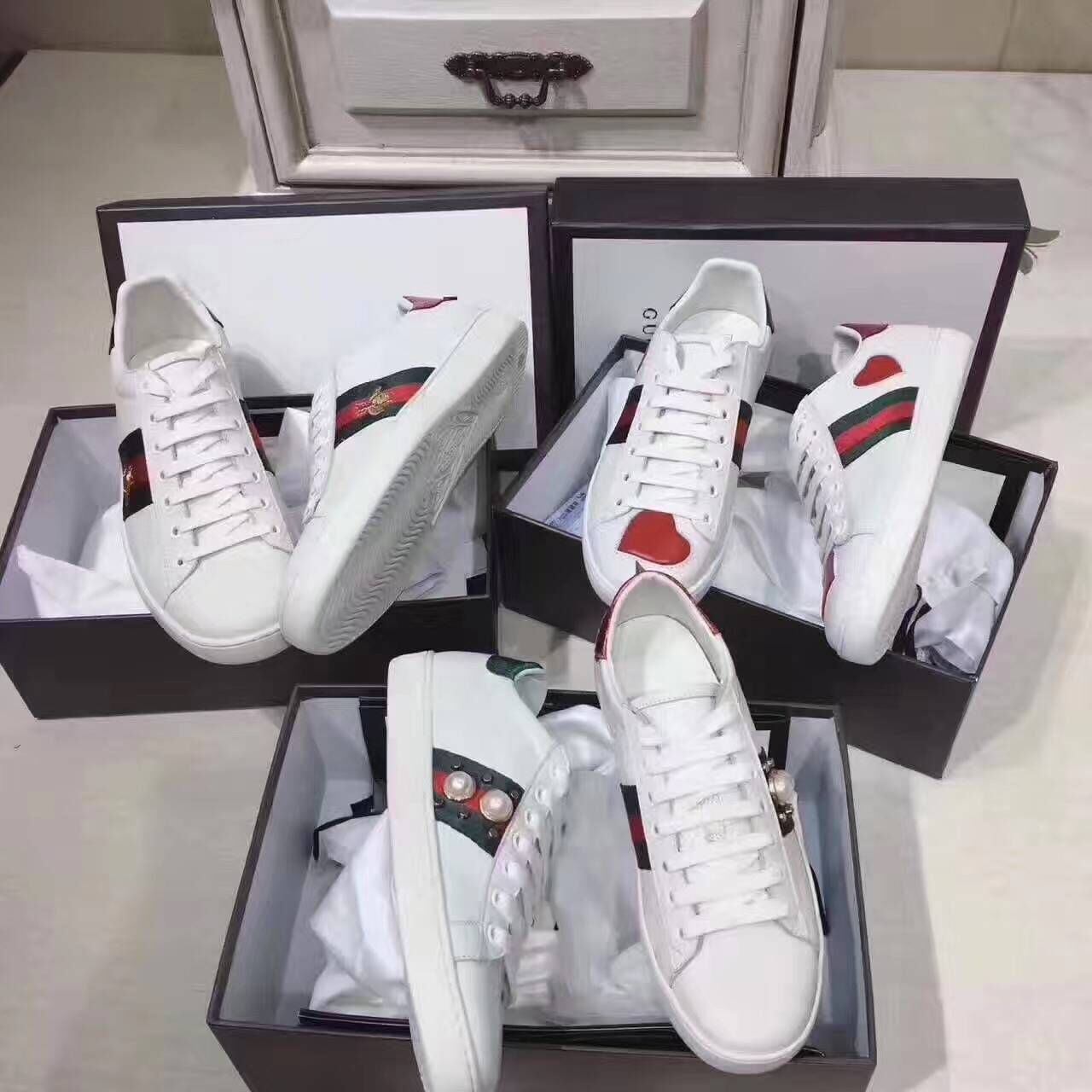 Gucci Shoes GG18131 White