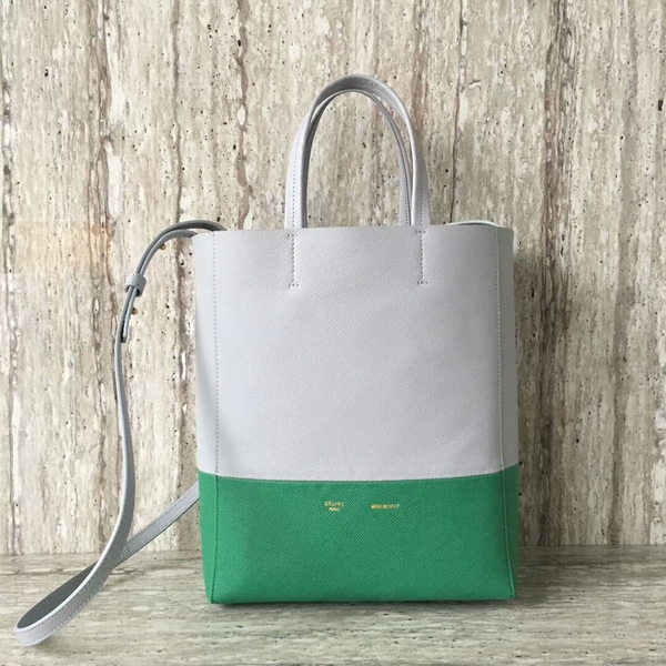 Celine Cabas Phantom Bags Calfskin Leather C2204 Grey&Green