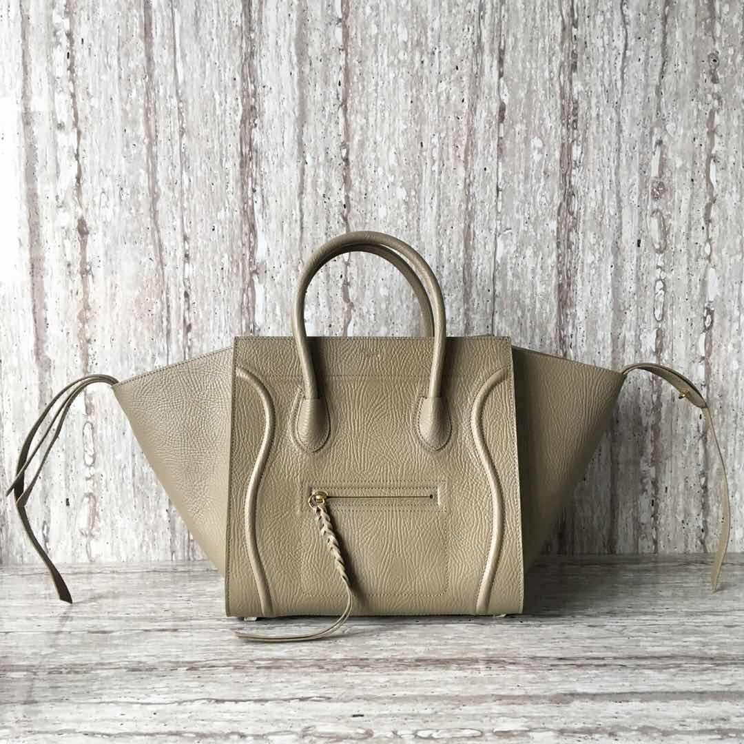 Celine Luggage Phantom Tote Bag Calfskin Leather CT3372 Grey