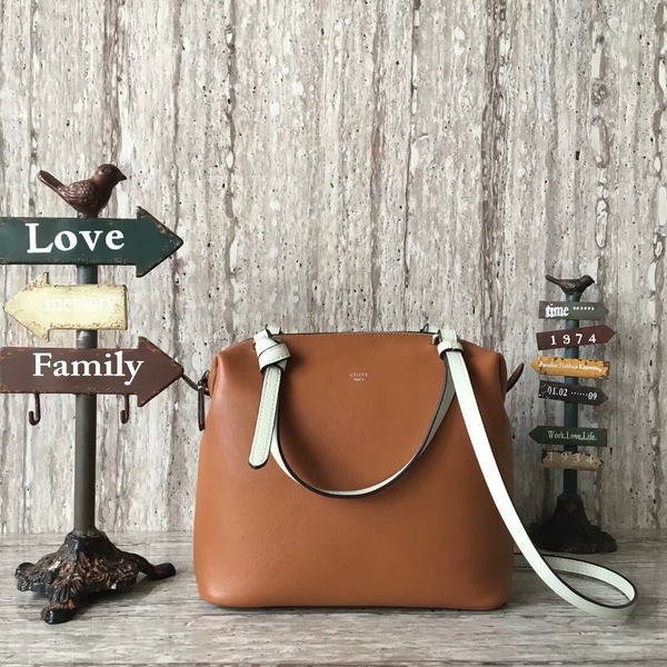 Celine Sheepskin  Leather Shoulder Bag 90059 Brown