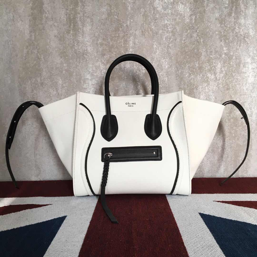 Celine Luggage Phantom Tote Bag  CT3372 white