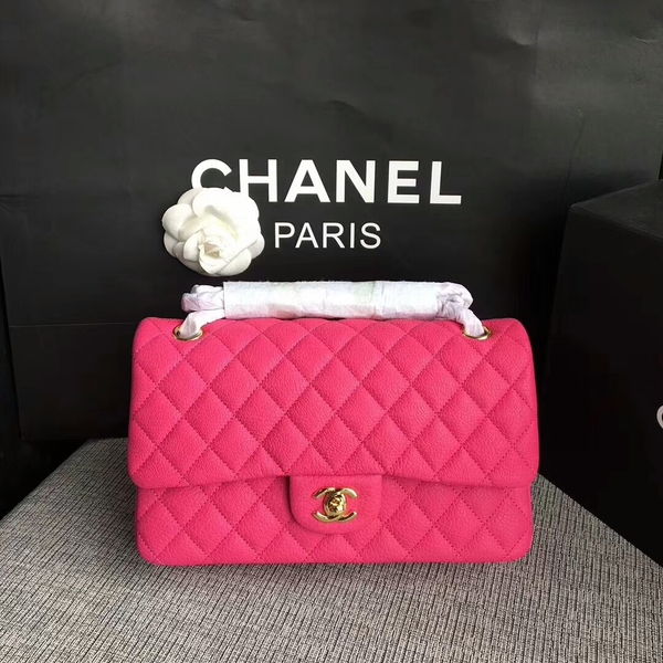Chanel Flap Shoulder Bags Original Deerskin Leather CF1112 Peach