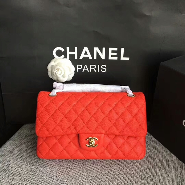 Chanel Flap Shoulder Bags Original Deerskin Leather CF1112 Red