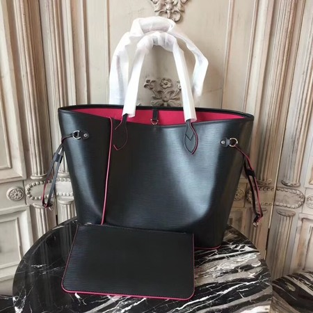 Louis Vuitton Neverfull Epi Leather Mm 54185 Black With