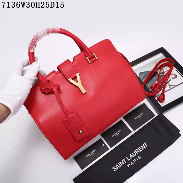 Saint Laurent Small Classic Monogramme Leather Flap Bag Y7136 red