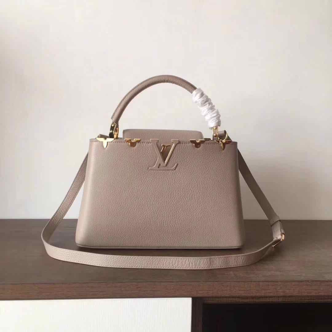 Louis Vuitton original Elegant Capucines BB Bags M94517 grey