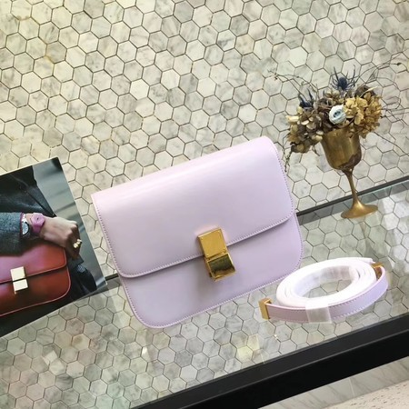 Celine Classic Box Flap Bag Original Calfskin Leather 5698 Light Purple