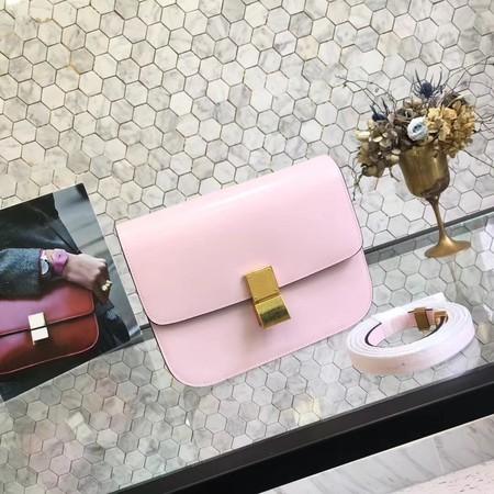 Celine Classic Box Flap Bag Original Calfskin Leather 5698 Pink