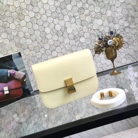 Celine Classic Box Flap Bag Original Calfskin Leather 5698 Yellow