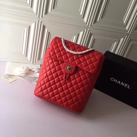 Chanel Backpack Original Sheepskin Leather 91122 Red