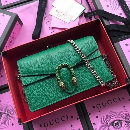Gucci Dionysus Calfskin Leather Shoulder Bag 476430 Green