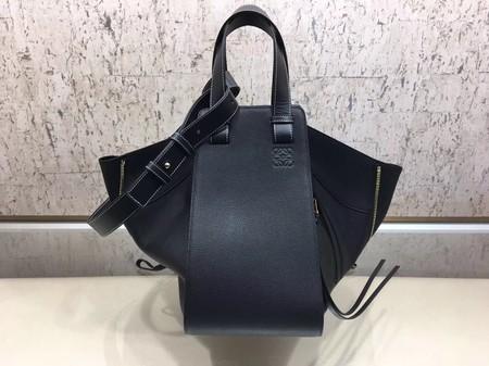 Loewe Hammock Calfskin Leather Tote Bag A9128 Black