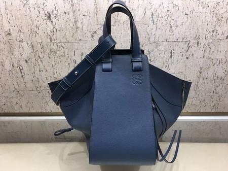 Loewe Hammock Calfskin Leather Tote Bag A9128 Blue