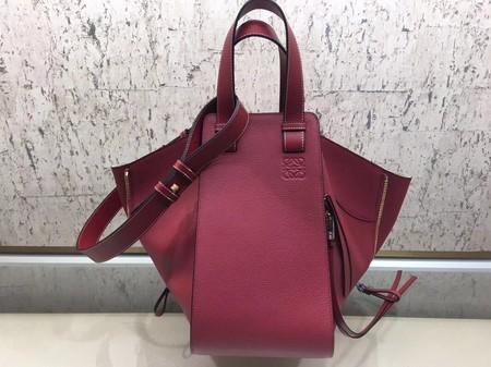 Loewe Hammock Calfskin Leather Tote Bag A9128 Red