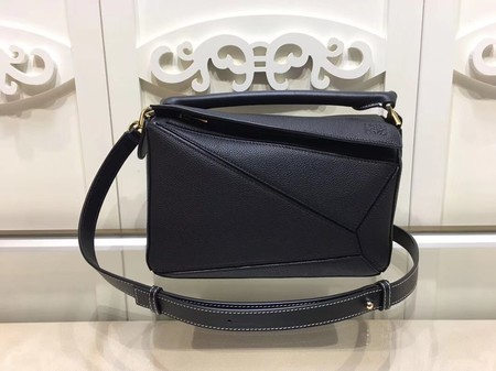 Loewe Puzzle Calfskin Leather Tote Bag 9122 Black