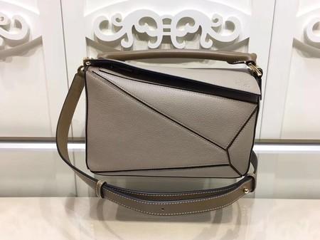 Loewe Puzzle Calfskin Leather Tote Bag 9122 Grey