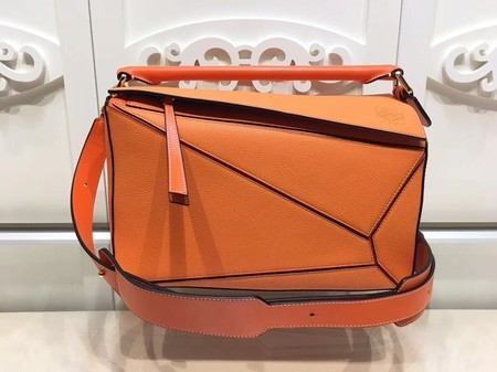 Loewe Puzzle Calfskin Leather Tote Bag 9122 Orange