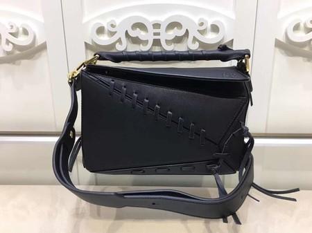 Loewe Puzzle Calfskin Leather Tote Bag 9124 Black