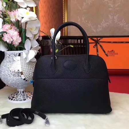 Hermes Bolide Original Leather Tote Bag B1007 Black