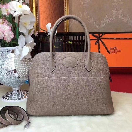 Hermes Bolide Original Leather Tote Bag B1007 Lightgrey