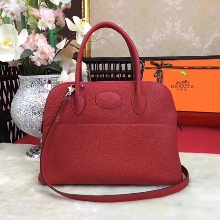 Hermes Bolide Original Leather Tote Bag B1007 Red