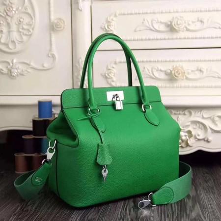 Hermes Toolbox Bag Original Togo Leather H3259 Green