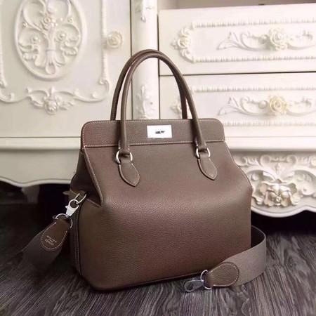 Hermes Toolbox Bag Original Togo Leather H3259 Grey
