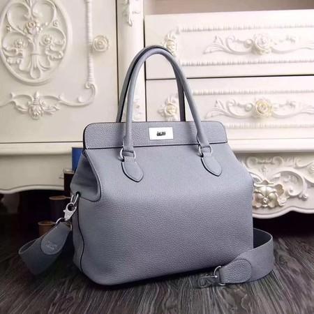 Hermes Toolbox Bag Original Togo Leather H3259 Light Blue