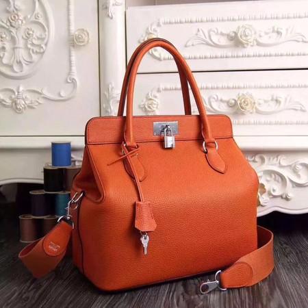 Hermes Toolbox Bag Original Togo Leather H3259 Orange