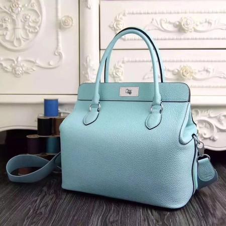 Hermes Toolbox Bag Original Togo Leather H3259 SkyBlue