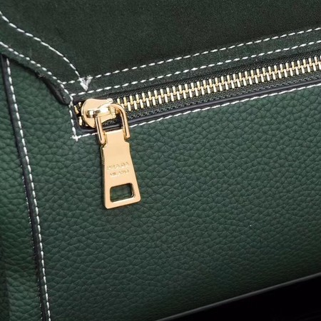Prada Shoulder Bag Calfskin Leather P7397 Green
