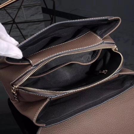 Prada Shoulder Bag Calfskin Leather P7397 Khaki
