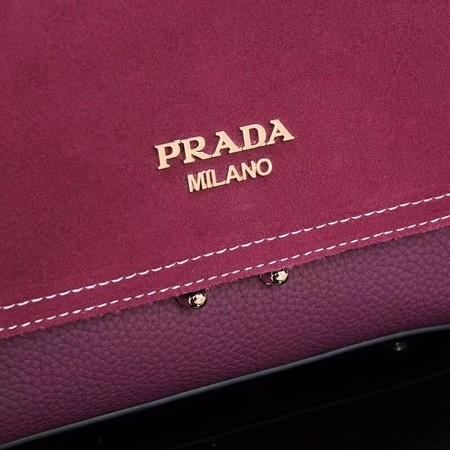 Prada Shoulder Bag Calfskin Leather P7397 Rose