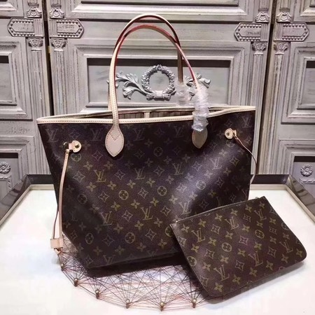 Louis Vuitton Original Monogram Canvas NEVERFULL 40156 Apricot