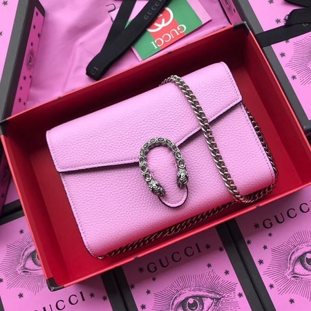 Gucci Calfskin Leather Shoulder Bag 401231 Pink