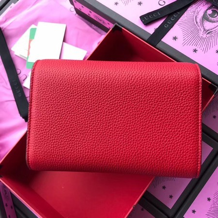 Gucci Calfskin Leather Shoulder Bag 401232 Red