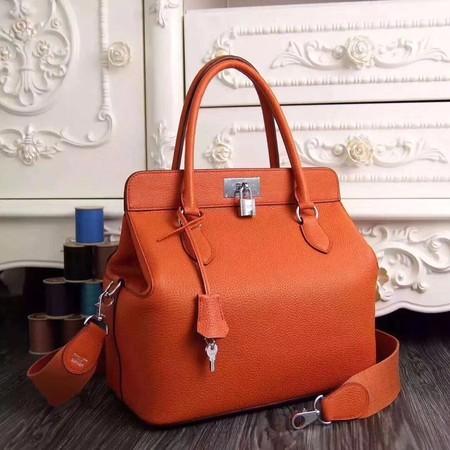 Hermes Toolbox Togo Bag Original Leather 3259 Orange