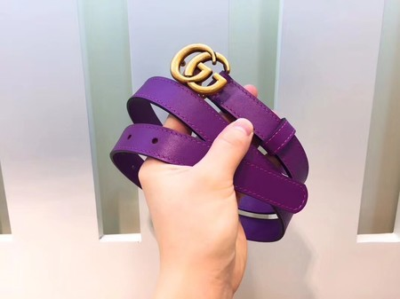 Gucci 20MM Leather Belt 414517 Purple