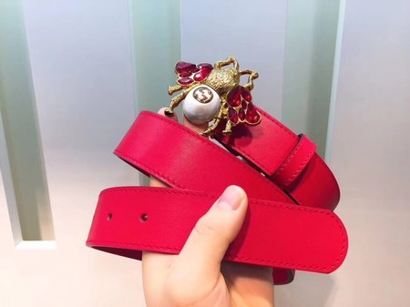 Gucci 35MM Leather Belt 414520 Red