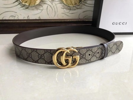 Gucci 35MM Leather Belt 414525 Brown
