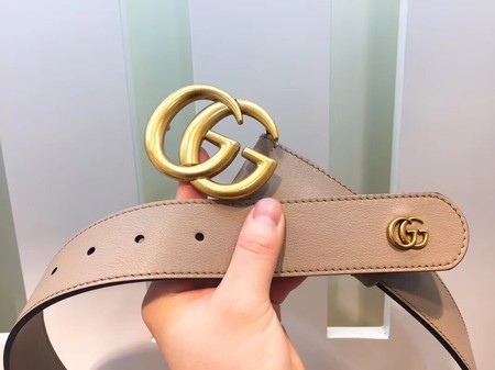 Gucci Leather Belt 414529 Apricot