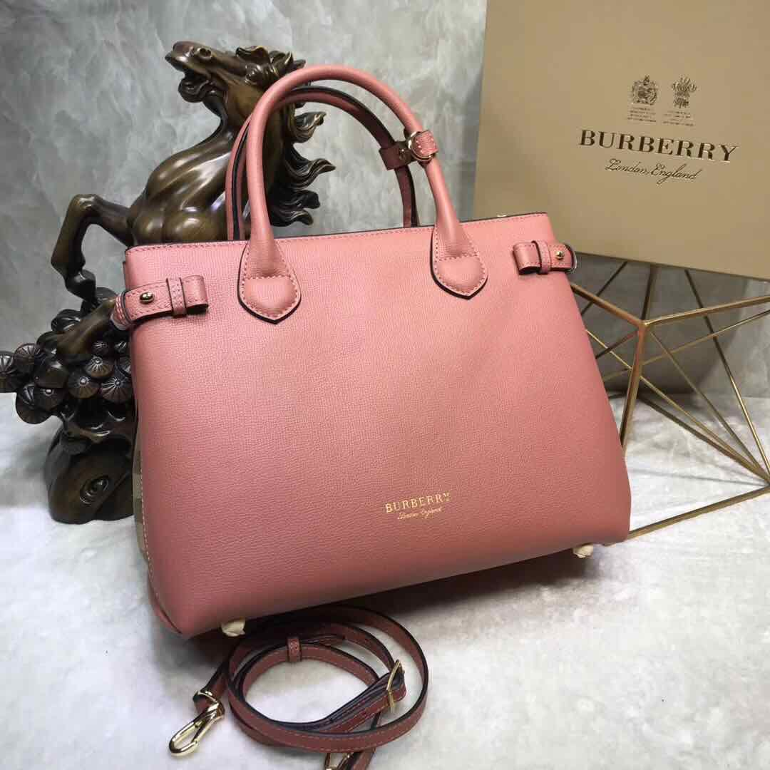 BurBerry Leather Tote Bag 5559 pink