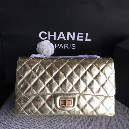 Chanel Flap Shoulder Bag Gold Original Calfskin Leather 277 Gold