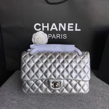 Chanel Flap Shoulder Bag Original Sheepskin Leather CF1112 Silver