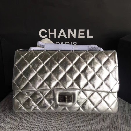 Chanel Flap Shoulder Bag Silver Original Calfskin Leather 277 Silver