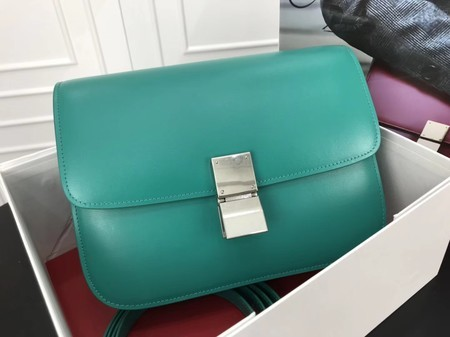 Celine Classic Box Flap Bag Original Calfskin Leather 3378 Blue