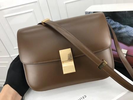 Celine Classic Box Flap Bag Original Calfskin Leather 3378 Khaki