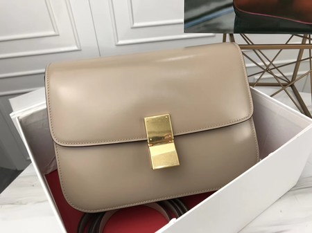 Celine Classic Box Flap Bag Original Calfskin Leather 3378 Light Grey