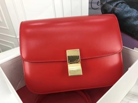 Celine Classic Box Flap Bag Original Calfskin Leather 3378 Peach